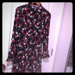 Zara flowered dress size small